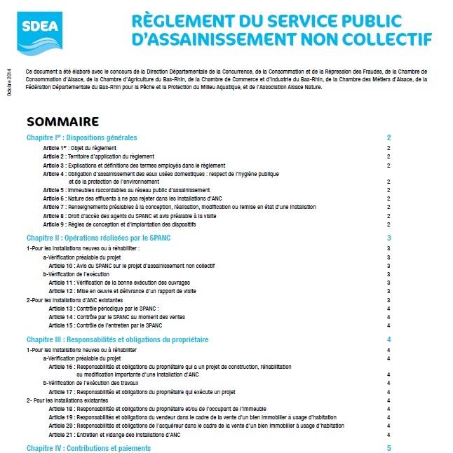 Reglement Du Service Public D Assainissement Non Collectif